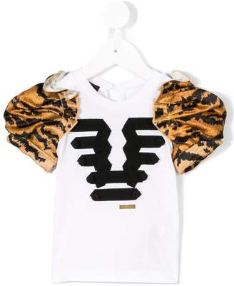 DSQUARED2 tiger puff sleeve T-shirt
