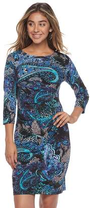 Ronni Nicole Women's Paisley Sheath Dress