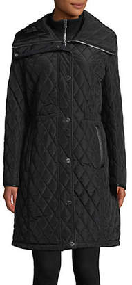 DKNY 37' Quilted Inner Bib Jacket