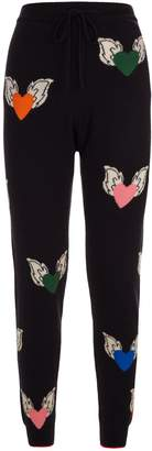 Chinti and Parker Juliet Hearts Cashmere Sweatpants