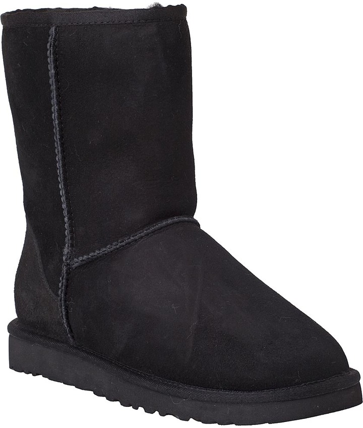 UGG® AUSTRALIA Classic Boot Short Black Suede