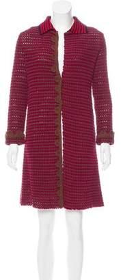 Prada Bouclé Knee-Length Coat