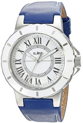 A Line a_line Women's 20012 Marina Dial Blue Leather Watch