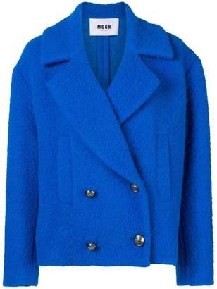 MSGM Bouclé oversized jacket
