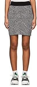Opening Ceremony Women's Zebra Jacquard Miniskirt - Black