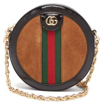 Gucci Ophidia Gg Leather And Suede Cross Body Bag - Womens - Tan Multi