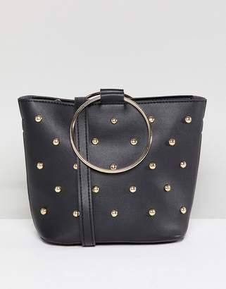 Melie Bianco Vegan Hoop Studded Bag