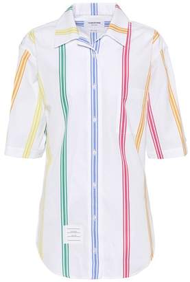 Thom Browne Cuban cotton poplin polo shirt