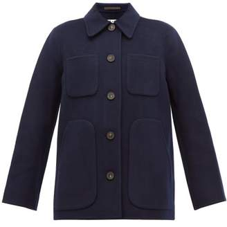 Acne Studios Okera Single Breasted Double Faced Wool Coat - Womens - Navy