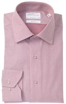 Lorenzo Uomo Textured Dots Regular Fit Dress Shirt