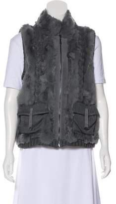 Alberto Makali Fur Knit Vest