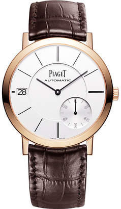 Piaget G0A38131 Altiplano 18 carat rose gold alligator strap automatic watch