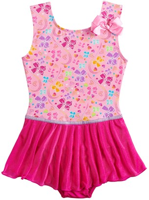 Danskin Girls 4-14 JoJo Siwa Pretty Bows Dance Skirtall Leotard