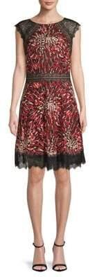 Tadashi Shoji Animal Print Fit-&-Flare Dress