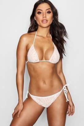 boohoo Lace Triangle Bikini