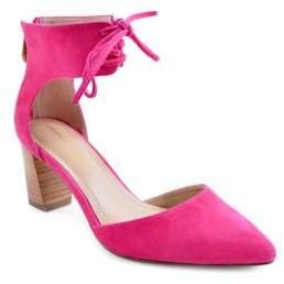 Adrienne Vittadini Nicole Suede 2-Piece Lace Pumps $99 thestylecure.com
