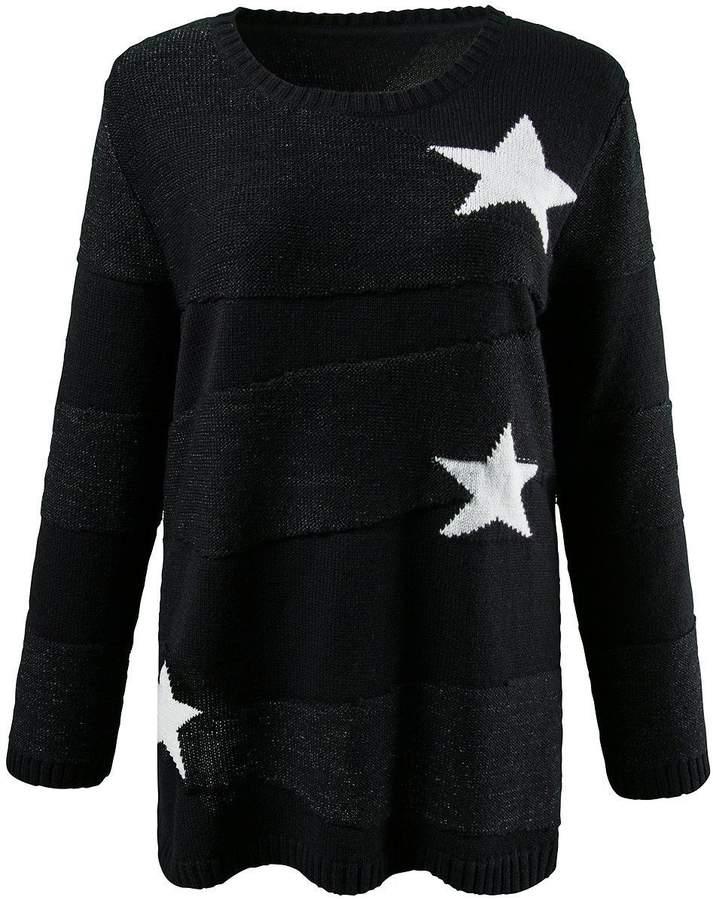 Pullover Sterne schwarz NEU