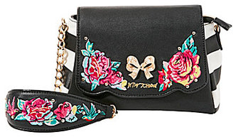 Betsey Johnson Belle Rose Floral-Appliqued Cross-Body Bag $78 thestylecure.com