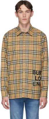 Burberry Beige Sandor Check Shirt