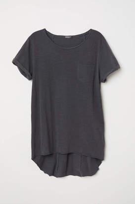 H&M Long T-shirt - Black - Men