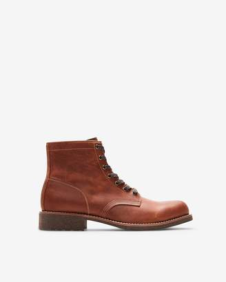 Express Genuine Leather Lace-Up Boots