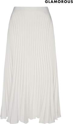 Next Womens Glamorous Pleated Midi Skirt