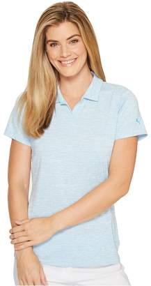 Puma Space Dye Polo Women's Short Sleeve Knit