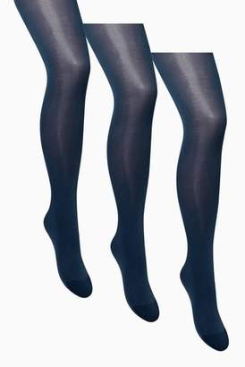 2df65e36bfc1f Next Womens Navy 40 Denier Opaque Tights Three Pack