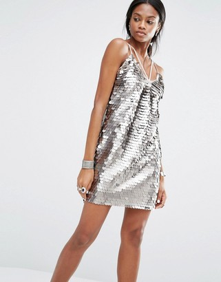 Missguided Sequin Harness Dress $60 thestylecure.com