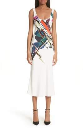 87c5a9538c9560 ... Cushnie et Ochs Devona Beaded Expressionist Print Dress