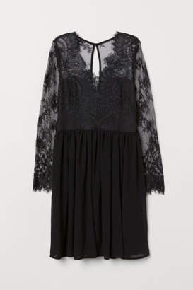 H&M Short Lace Dress - Black