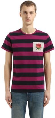 Kent & Curwen Gridlan Striped Cotton Chambray T-Shirt