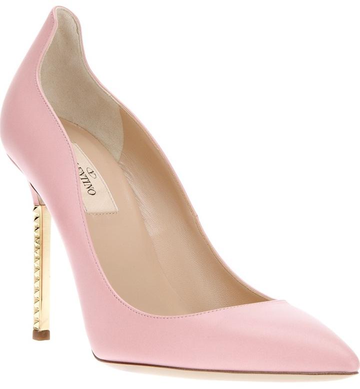 Valentino Garavani metallic heel pump
