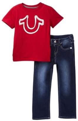 True Religion Horseshoe Tee & Jeans Set (Toddler Boys)