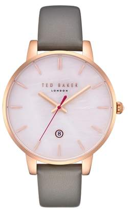 Ted Baker Kate Leather Strap Watch, 40mm