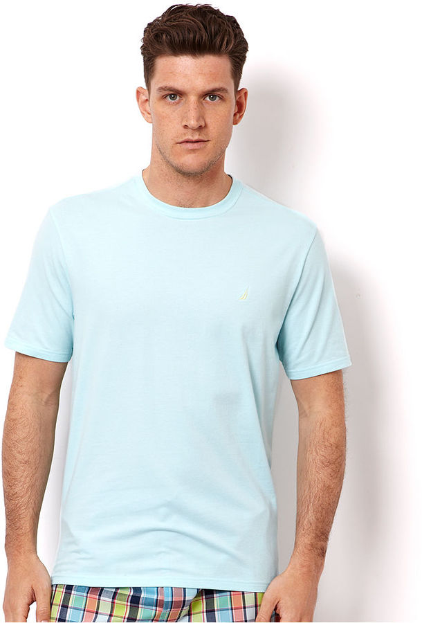 Nautica Men's Loungewear, Open Seas Knit Short Sleeve Crew T Shirt