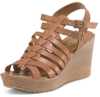 Mariella Rosati Leather Wedge
