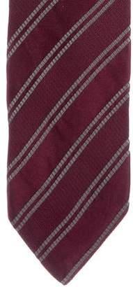 Armani Collezioni Striped Jacquard Silk Tie