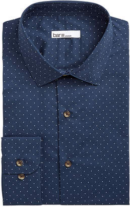Bar III Men's Slim-Fit Stretch Polka Dot Dress Shirt, Created for Macy's