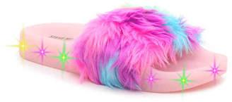 Steve Madden Softlite Toddler & Youth Light-Up Slide Sandal - Girl's