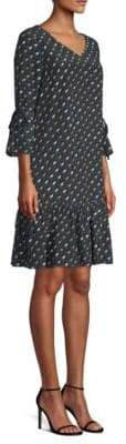 Lafayette 148 New York Women's Anagrace Silk Print Dress - Blue - Size XS