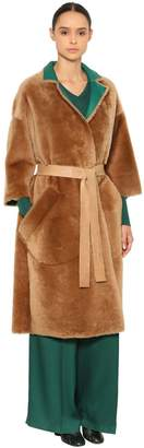 Rochas Reversible Shearling & Leather Coat