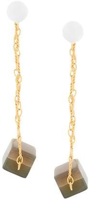 Marni cube drop earrings