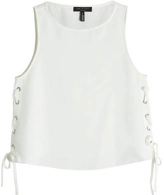 Rag & Bone Crepe Top with Lace-Up Sides