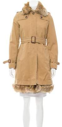 J.Crew J. Crew Fur-Lined Knee-Length Coat