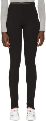 Prada Black Milano Elastic Band Leggings