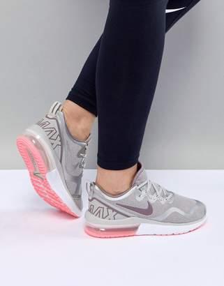 Nike Running Air Max Fury Trainers In Bone Grey