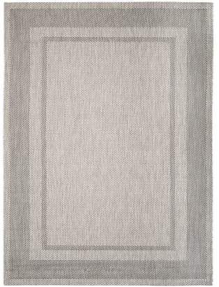 west elm Optic Bordered All-Weather Rug