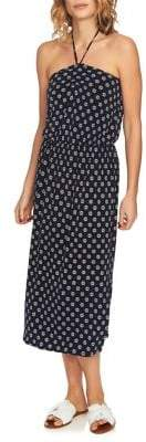 1 STATE 1.STATE Cinched Halter Midi Dress
