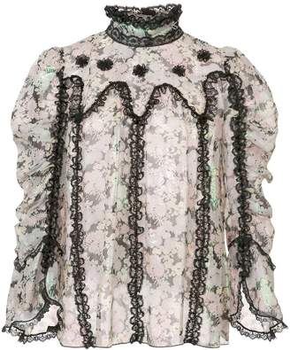 Anna Sui Night Bloom top